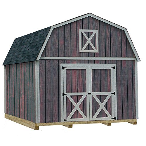 Best Barns Denver 12 ft. x 20 ft. Wood Storage Shed Kit with Floor Including 4 x 4 Runners ()