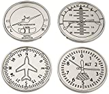 Set Of Four Airplane Instrument Coasters, Elegant