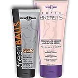 Fresh Body Fresh Balls Fresh Breasts Male Female BUNDLE Pack Special! (Male & Female Antiperspirant Hygiene Lotion),Multi-colored,8.4 oz