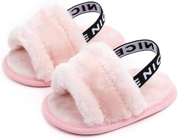Fur Soft Sole Infant Solid Color