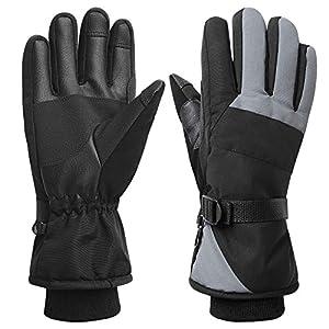 Women Waterproof Windproof Ski Gloves, 3M Thinsulate Snowboard Snowmobile Glove