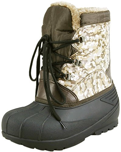 - The Doll Maker Quilted Snow Boot, Brown, 9 M US Toddler