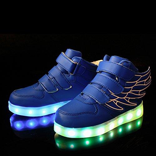 DoGeek Zapatos Led Niños Deortivos para 7 Color USB Carga LED Luz Glow USB Flashing Zapatillas niñas (Elegir 1 tamaño más Grande): Amazon.es: Zapatos y ...