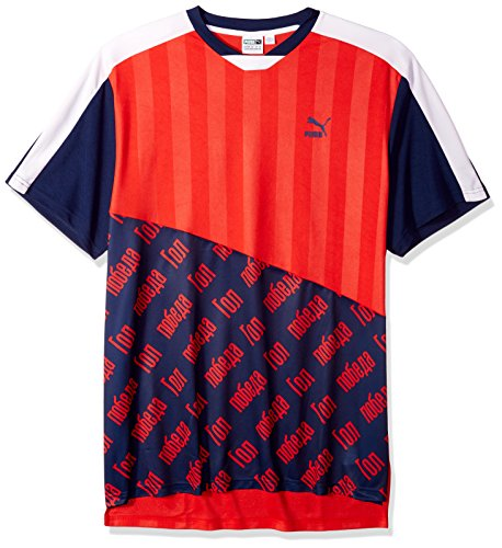 PUMA Men's World Cup Tee, Flame Scarlet M