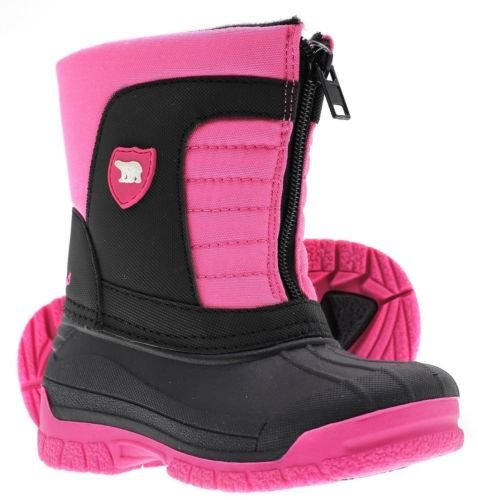 ArcticShield Kids Warm Comfortable Insulated Waterproof Durable Zipper Outdoor Winter Snow Boots (Toddler/Little Kid/Big Kid) (2 M US Little Kid, Pink)