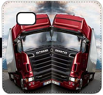 Scania G8R74 Coque samsung GALAXY S7 Bord Portefeuille en cuir ...