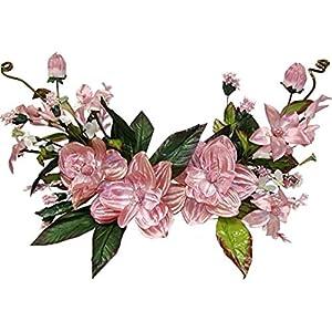"Wedding Flowers 38"" Metallic Crinkle Magnolia Dogwood Swag Artificial Silk Home Party Decoration (Mauve) 33"