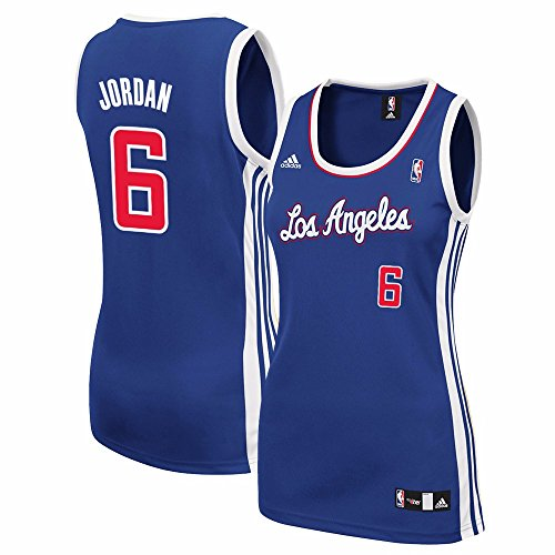 Deandre Jordan Los Angeles Clippers NBA Adidas Women's Blue Replica Jersey (Jordan Embroidered Jersey)