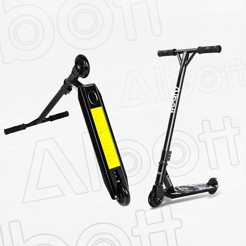Albott Stunt Scooter 360/° Lenkung Sports Tretroller Roller mit 100mm PU-Gr/ün Wheels Kickscooter f/ür Kinder Erwachsene