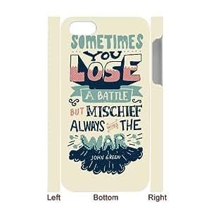 Lycase(TM) Looking for Alaska DIY 3D Cover Case, Looking for Alaska Iphone 4,4S Hard Back 3D Case