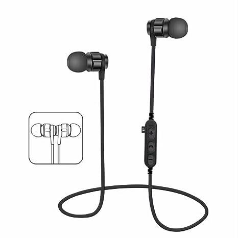 Auricular,YUYOUG Auricular inalámbrico Bluetooth 4,2 Auriculares estéreo audífonos Sport Auriculares (Black