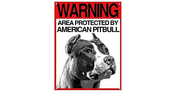 Lovelytiles American Pitbull matrícula Cuidado con el Perro ...