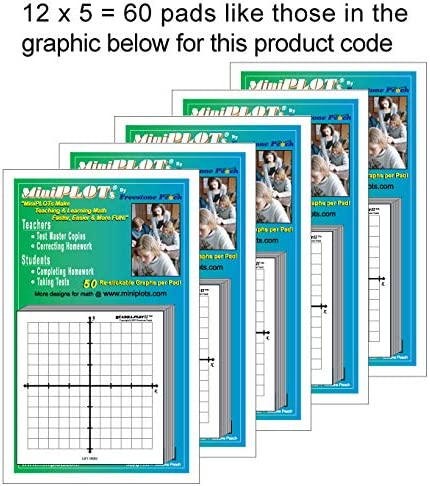 Each pad has 50 sheets of releasable adhesive backed XY axis coordinate grid paper Use for homework taking notes in class MiniPLOT Graph Paper: 60 Pads of 3x3 inch pre-printed Sticky Notes 60