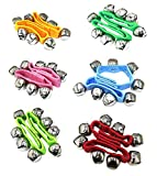 Botanmu 12 PCS Baby Kids Nylon Wrist Bells Rattles Ring Bracelet Random 6 colors