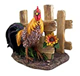Farm Yard Rooster Napkin Holder 5 1/4 Inch