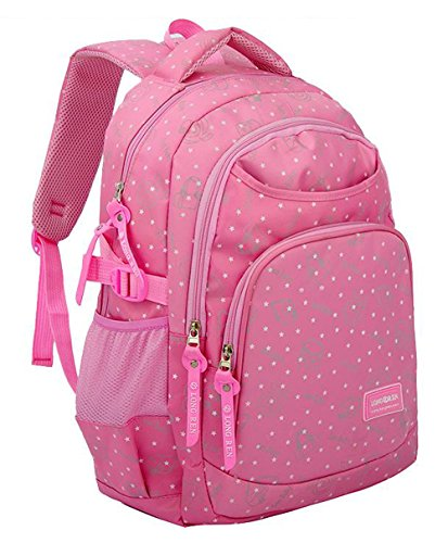 Hearts Printed kids School Backpacks for Girls Children School Bags Bookbags (Small, Pink 3)