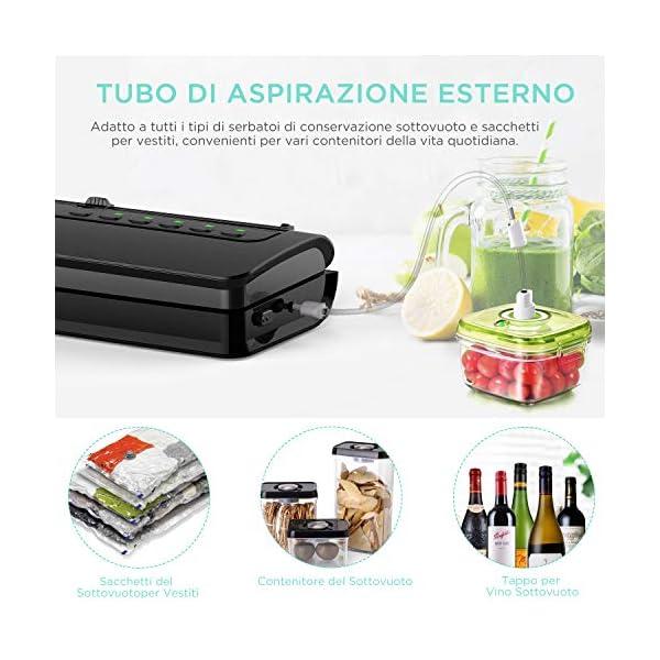 ABOX V63 Macchina Sottovuoto per Alimenti Professionale, 5 in 1 Sigillatrice Sottovuoto Secchi e Umidi con Taglierina… 5