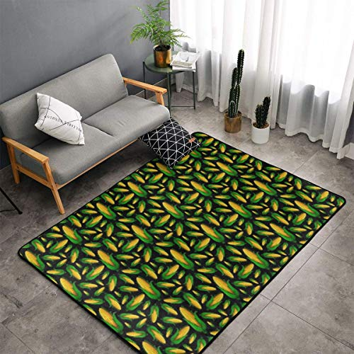 Bedroom Livingroom Sitting-Room Queen Size Kitchen Rug Home Art - Corn Doormat Floor Mat Fast Dry Bathroom Rug Mat Yoga Mat Throw Rugs Runner