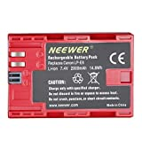 Neewer Li-ion Battery Replacement for Canon LP-E6, 7.4V 2000mAh Rechargeable, Compatible with Canon EOS 5D Mark II,III VI 60D 7D 70D 80D Cameras, BG-E14 BG-E6 BG-E16 BG-E9 BG-E13 BG-E7 5D4 BG-E20 Grips (Red)