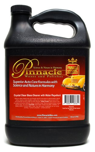 Pinnacle Natural Brilliance PIN-812 Crystal Clear Glass Cleaner with Repellent, 128 fl. oz. by Pinnacle Natural Brilliance (Image #1)