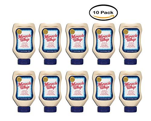 PACK OF 10 - Kraft Miracle Whip Mayo Dressing Original, 22 fl oz Bottle (Bottle Kraft)