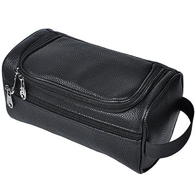 770c279e988f HappyDavid PU Leather Travel Toiletry Bags Mens Ladies Supply ...