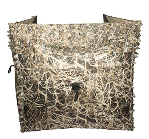 Auscamotek Duck Hunting Pop Up Ground Blind Portable Quick Setup Lightweight Deer Hunting Blind Camouflage Ground Blind