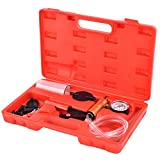 SUNCOO Brake Bleeder Kit Held Vacuum Pump with Gauge Automotive Tester Set with Hoses 10.55L x 8.58W x 3.46H
