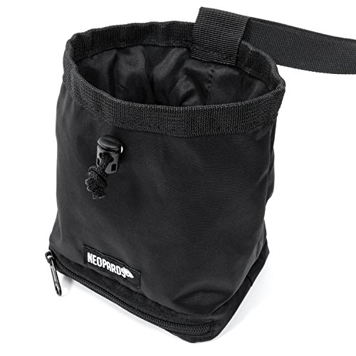 Neopards Drawstring Chalk Bag | Highend Rock Climbing Chalk Bag for Bouldering, Weightlifting, Gymnastics | Chalk Pouch with Waist Belt and Zippered Bottom Pocket To Securely Hold iPhone and Valuables