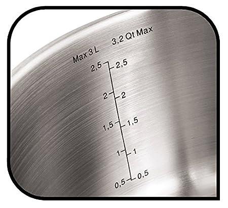 Tefal A6052815 - Cazo, base de inducción de 6 mm, acero inoxidable, plata, 16 cm: Amazon.es: Hogar