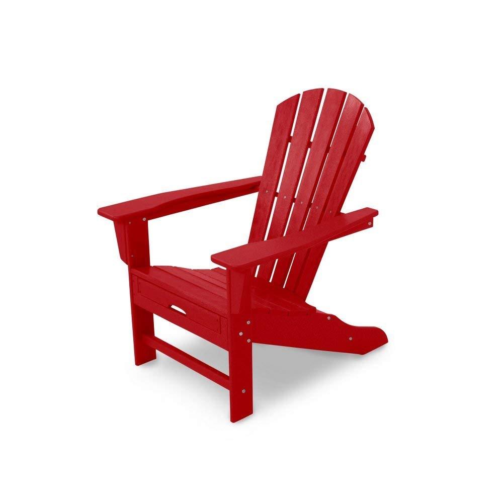 Polywood HNA15SR Palm Coast Adirondack Chair, Sunset Red