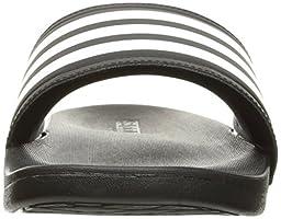 adidas Performance Women\'s Adilette CF Ultra Stripes C W Athletic Sandal, Black/White/Black, 8 M US