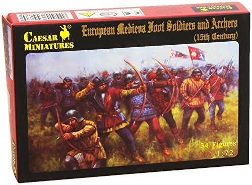 - Caesar Miniatures 1/72 European Medievil Foot Soldiers and Archers (15th Century) # 088 by Caesar Miniatures