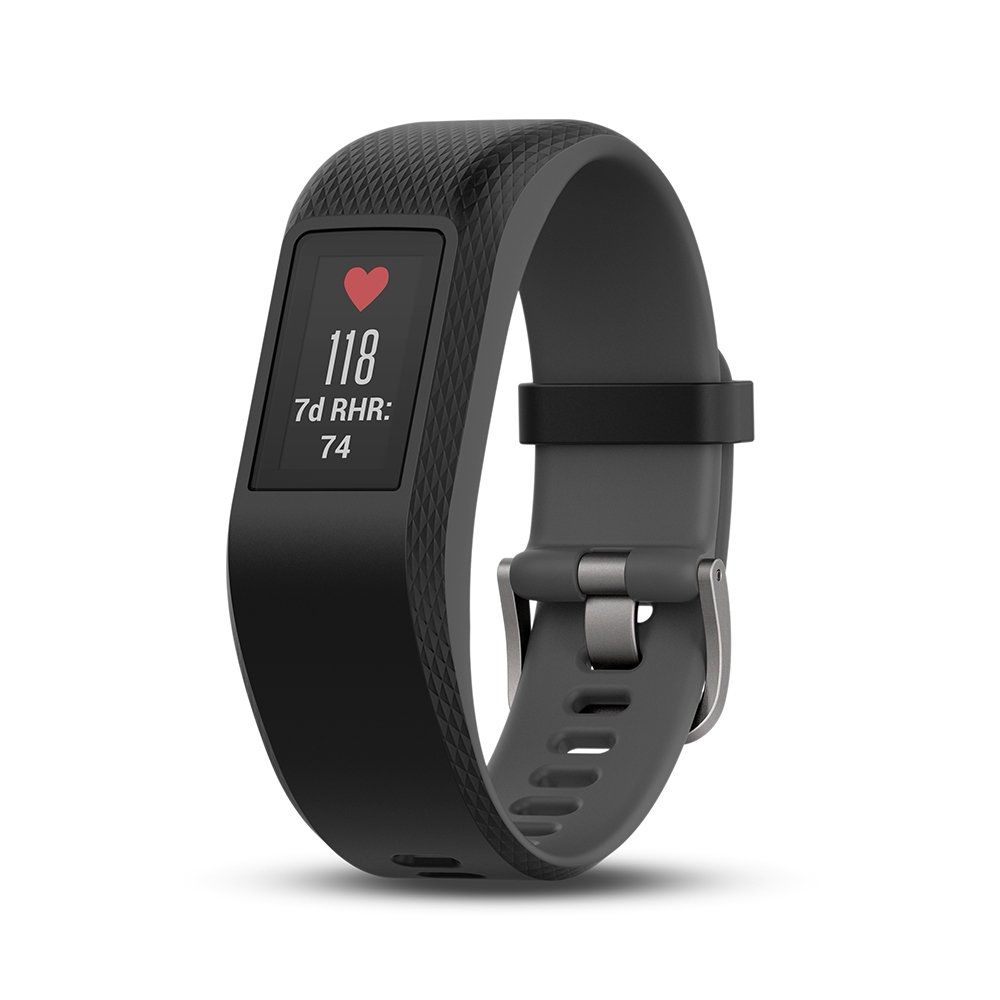 Black Certified Refurbished Garmin Vivosport Smart Activity Tracker with Wrist-Based Heart Rate and GPS Small