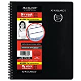 AT-A-GLANCE 2018-2019 Academic Year Weekly & Monthly Planner / Appointment Book, 8 x 9-7/8, College / Student, Black (70CP0105)
