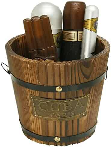 Cuba Gold by Cuba for Men - Gift Set - 3.4oz EDT Spray, 6.7oz deodorant Spray, 3.3oz after shave, 1.17oz EDT Spray with bucket