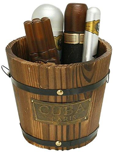 Cuba Gold by Cuba for Men - Gift Set - 3.4oz EDT Spray, 6.7oz deodorant Spray, 3.3oz after shave, 1.17oz EDT Spray with bucket by Cuba