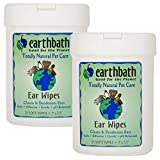 Earthbath Ear Wipes, 25 Wipes (2 Pack)