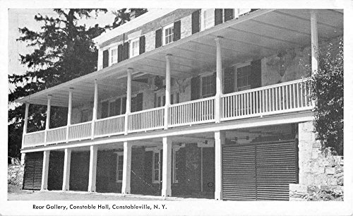 Constableville New York Hall Rear Gallery Antique Postcard K78337