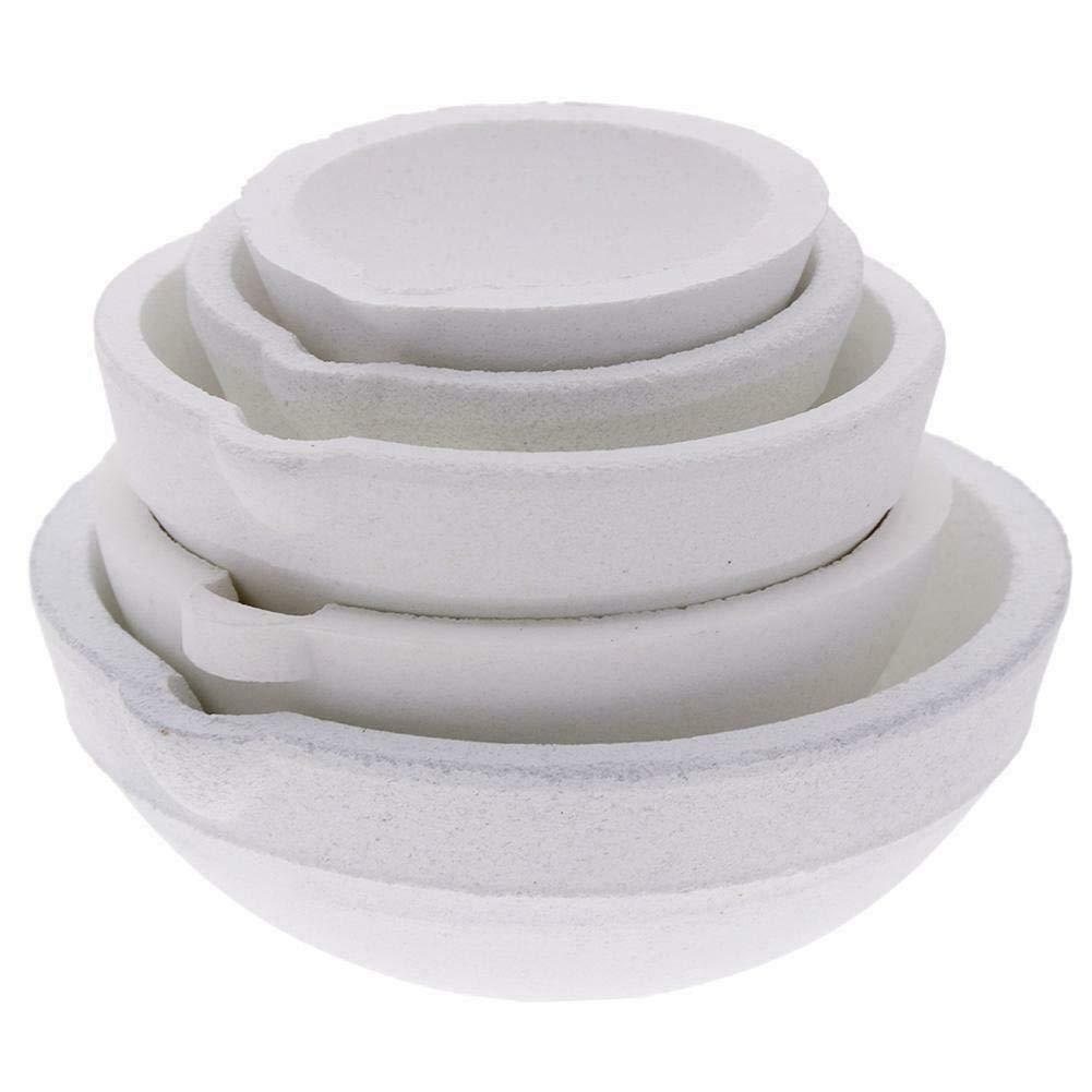 LTKJ Set of 5 Crucibles Melting Dishes Ceramic Casting Torch Melt Jewelry Gold Silver 100g//250g//500g//750g//1kg