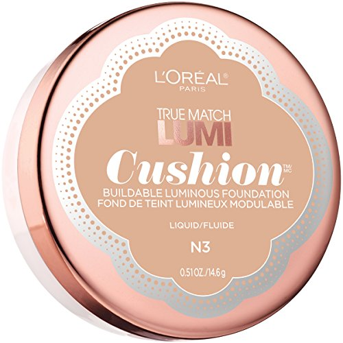 L'Oréal Paris True Match Lumi Cushion Foundation, N3 Natural Buff, 0.51 oz.