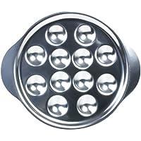 Plato para caracoles acero inoxidable - 12 huecos