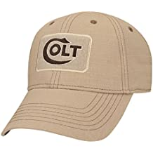 Official Colt Firearms Baseball Cap Light Brown Embroidered Logo Sitka