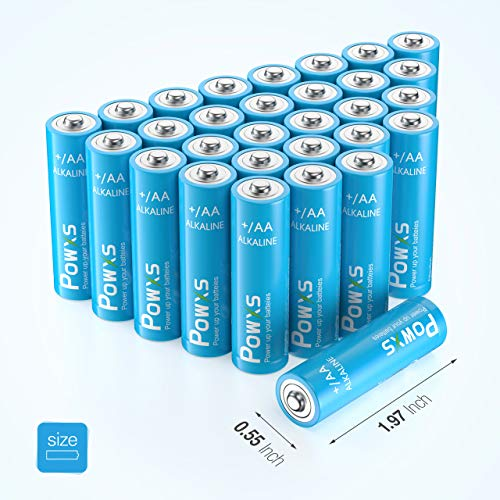 POWXS AA Alkaline Batteries, 1.5V Durable AA Batteries for Household,30 count