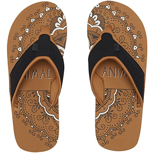 Animal Swish Placement Womens Sandals 4.5 B(M) US Women / 3.5 D(M) US Toffee Apple Brown