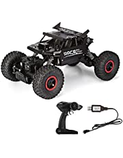 GBlife RC Auto Rock Crawler Ferngesteuertes Auto 1:18 Alloy 2.4G 4WD Geländewagen High Speed 360° RC Fahrzeug Auto Fahrzeug Spielzeug 12km/h Geburtstag Geschenk für Kinder