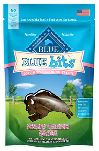 Buffalo Blue Bits Savory Salmon Natural Soft-Moist Training Treats, 8oz by Blue Buffalo (Blue Bits Tender Beef Recipe)