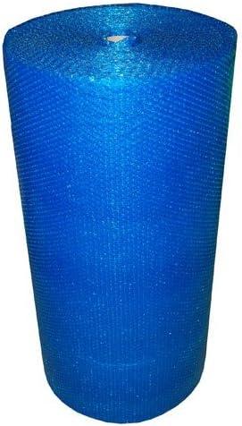 Realpack - Rollo de papel de burbujas de color azul fuerte (750 mm x 100 m), color azul