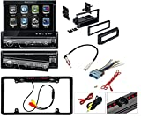 Soundstream VIR-7830B Single-Din Bluetooth Car Stereo DVD Player with 7-Inch LCD Touchscreen Car Stereo Dash Install Mounting Kit Wire Harness Radio Antenna + Cache Nightvision Camera