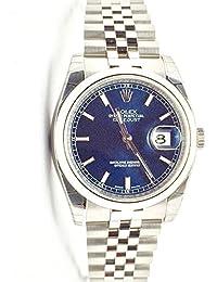 Datejust 36 Blue Dial Steel Mens Watch 116200